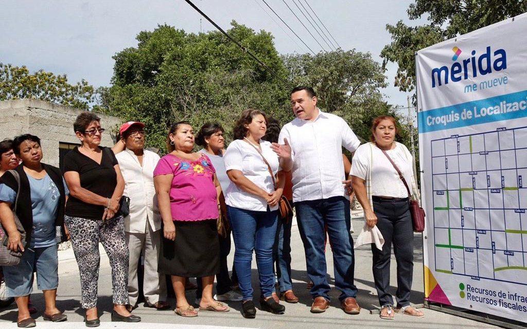 Obras en colonia Leandro Valle para mejor flujo vial en oriente de Mérida