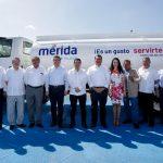 Refuerzan servicios públicos en Mérida con 54 nuevos vehículos