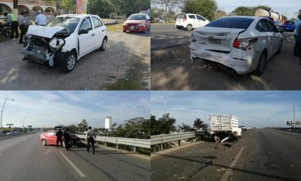 Congestionamiento vial deriva en daños a 5 vehículos en periférico (Video)
