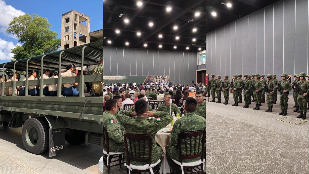 Contribuyen militares a la seguridad en Yucatán (Video)