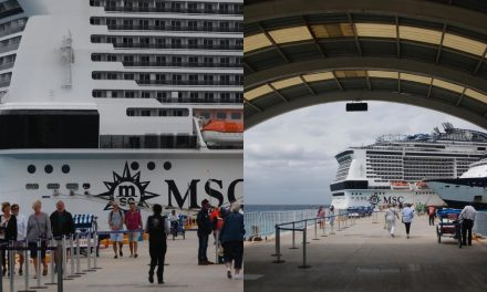 Pasean en Cozumel pasajeros de crucero Meraviglia (Vídeo)