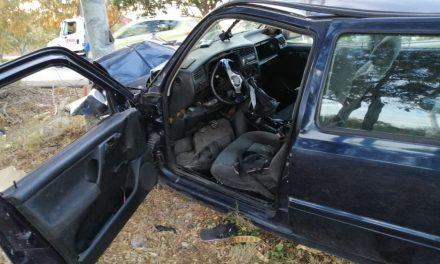 Pasean en Progreso y de regreso destrozan el auto en periférico de Mérida (Video)