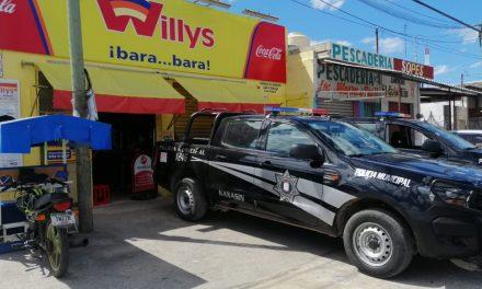Asalto a mano armada en tienda Willys de Kanasín; se lleva botín