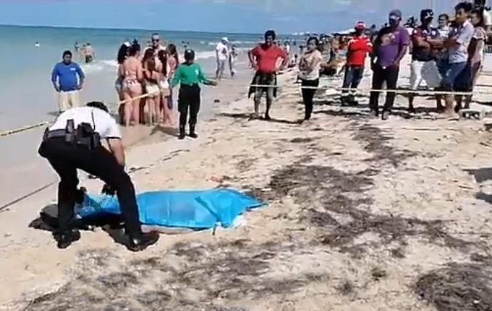 Rojo lunes de carnaval: muere bañista en malecón de Progreso