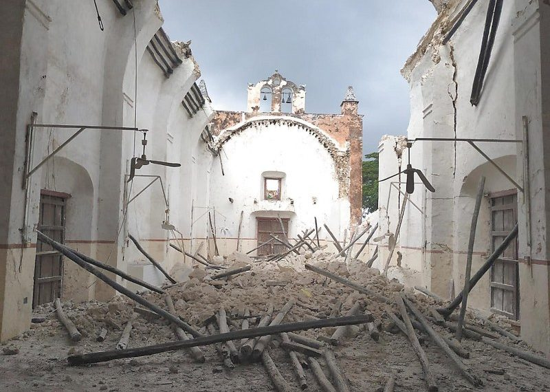 Templo de San Agustín Nabalam, a reconstrucción el próximo lunes