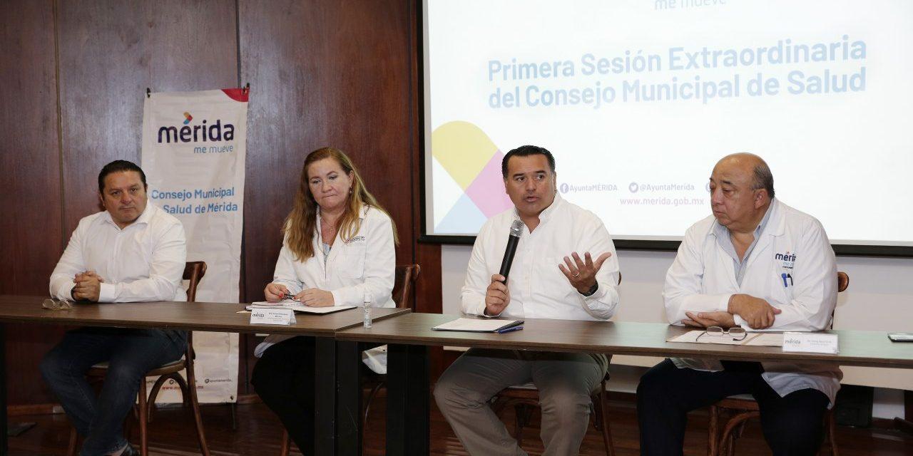 Coronavirus en Mérida reúne al Consejo Municipal de Salud