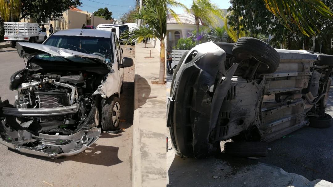 Beat contra Jeep: una lesionada en fraccionamiento Montebello