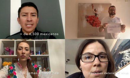 """Video de red internacional de mexicanos advierte """"quédate en casa"""""""