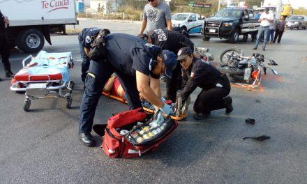 Motociclistas en brutal choque en la Mérida-Umán