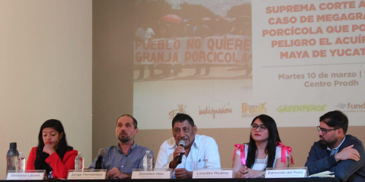 Pronunciamiento de organizaciones civiles por riesgo de agua en Península de Yucatán