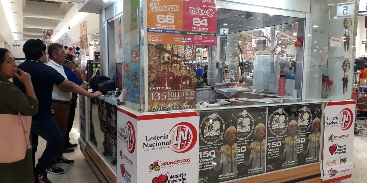 Falla distribución en Mérida de cachitos del sorteo del avión presidencial