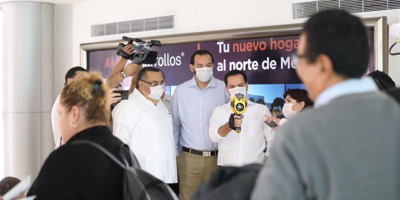 Filtros y revisiones en todos los vuelos que lleguen a Yucatán