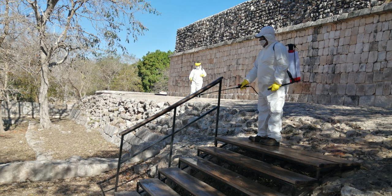 Desinfección en Chichén Itzá, Uxmal y otras zonas arqueológicas