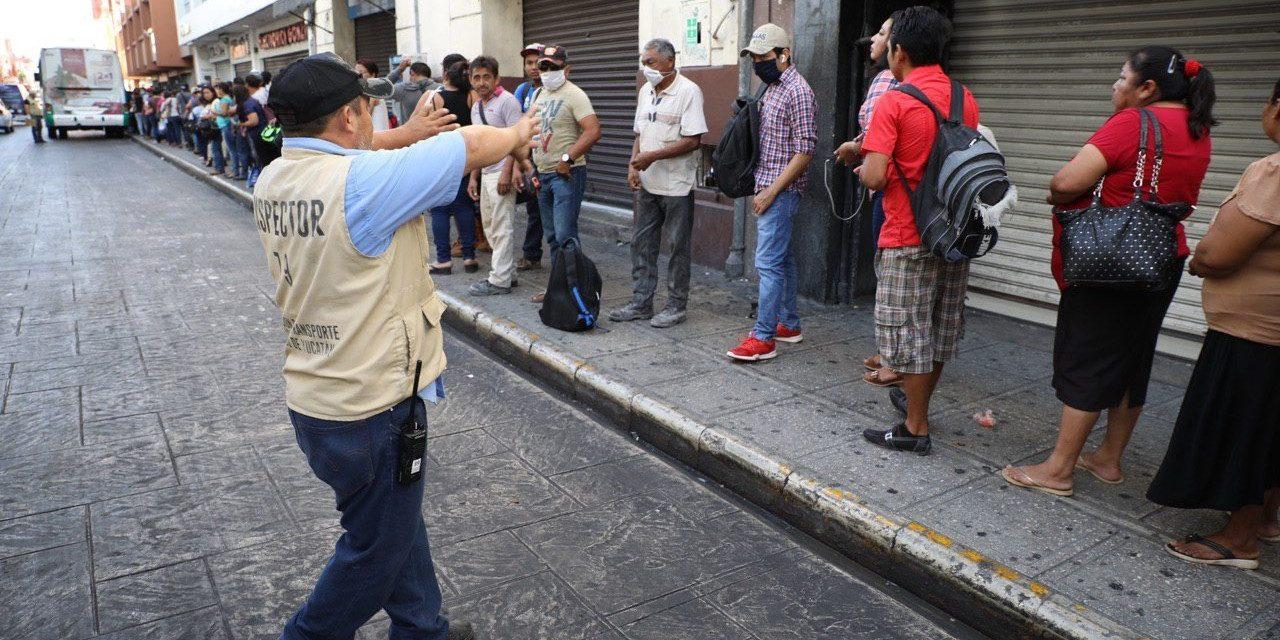Prevención de Covid-19 en transporte público de Mérida