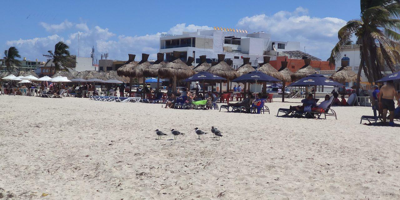 Retiran a bañistas y paseantes de playas yucatecas (Video)