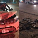Camioneta atropella a ciclista en periférico Mérida, por entrada a Chenkú (Video)