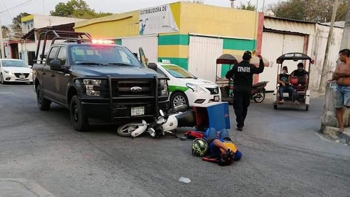 """Atropellado en Umán por camioneta de SSP que """"se voló"""" el alto"""