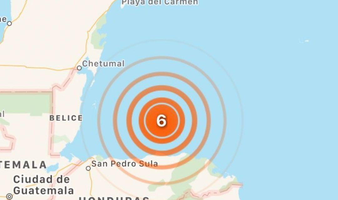 Sacude sismo en Honduras y alcanza parte de la Península de Yucatán