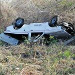 Un fallecido y tres heridos graves por volcadura en la Mérida-Muna