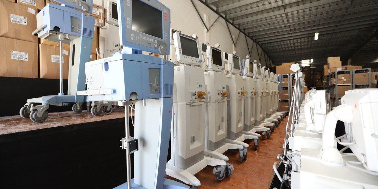 Adquiere Yucatán 110 nuevos respiradores para enfrentar Covid-19