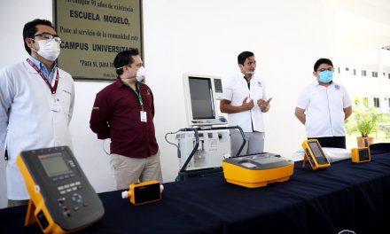 Equipo biomédico y ventilador mecánico de la Universidad Modelo a hospitales públicos