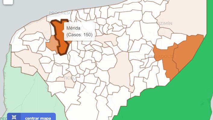 Covid-19 en 15 municipios de Yucatán; encabezan Mérida y Valladolid