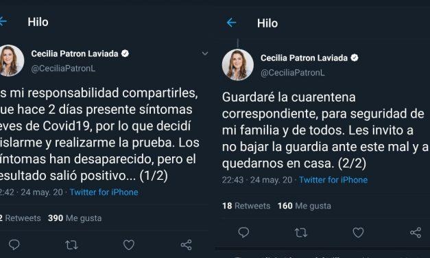 Contagiada de Covid-19 Cecilia Patrón Laviada, del PAN