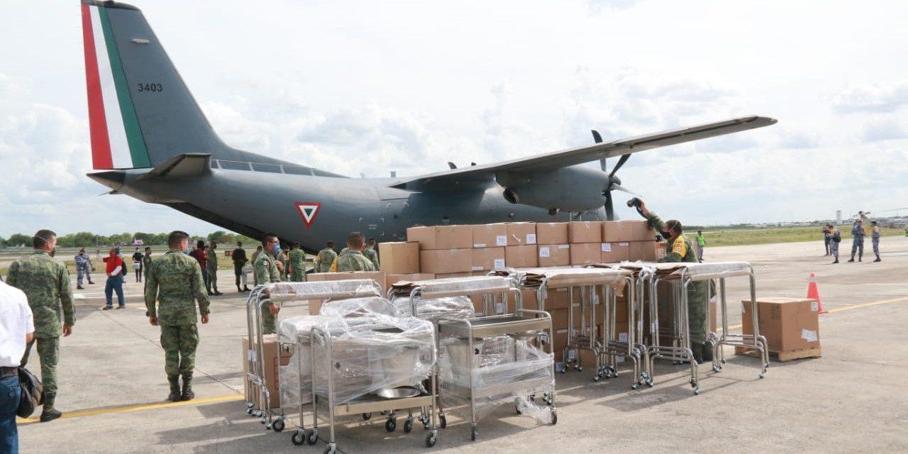 Más insumos médicos y equipos para instalaciones militares contra Covid-19