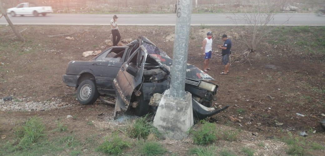 Alcoholizado 'vuela', rebasa y está casi muerto; regresaba de Campeche