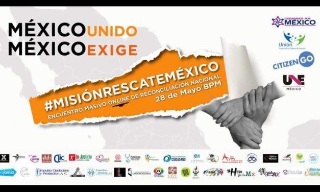 Convocan a manifestación virtual por la situación de México