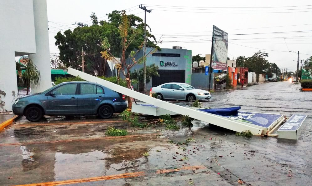 Tormenta intensa: mucha agua y afectaciones en Mérida y alrededores
