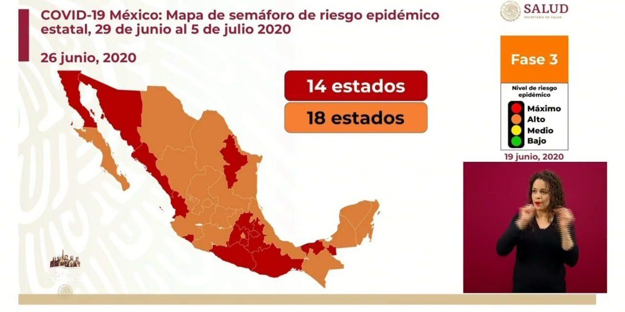 Península sincronizada: tres estados de la región en naranja