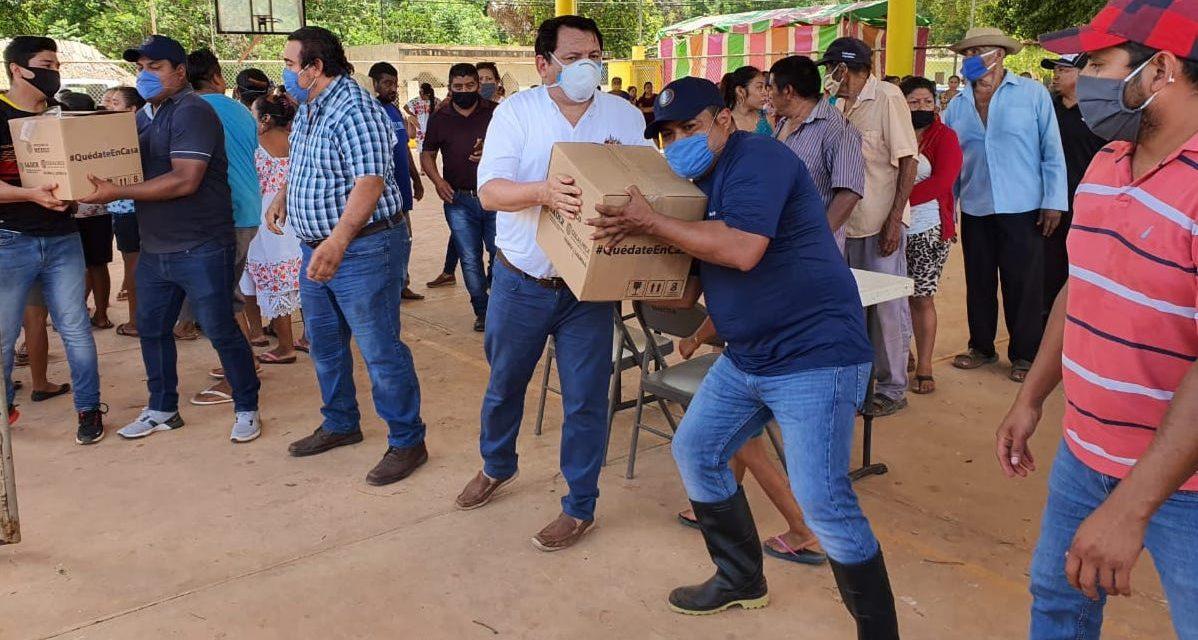 Ayuda alimentaria federal en tres municipios de Yucatán