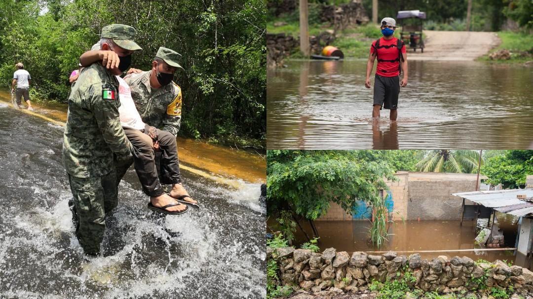 Apoyo emergente en Yucatán para afectados por lluvias e inundaciones