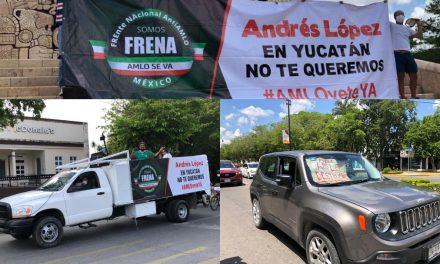 Repiten en Mérida protesta contra AMLO; insisten en su renuncia