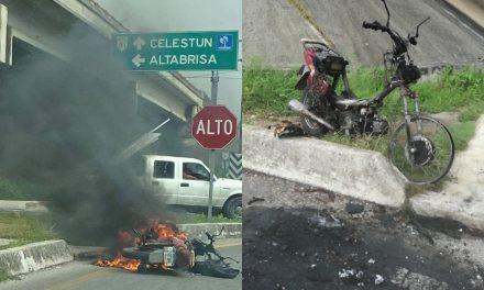 Luchador y albañil 'pierde' motocicleta en periférico de Mérida