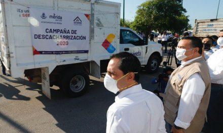 Campaña Emergente de Descacharrización 2020, en Mérida