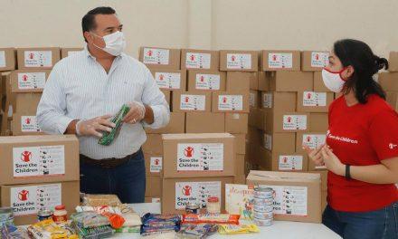 """""""Save the Children México"""" entrega casi 7 mil paquetes alimentarios en Mérida"""