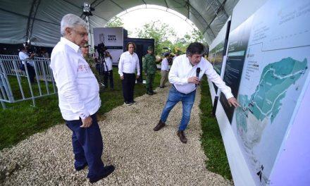"""Banderazos al Tren Maya """"con mal tiempo""""; augurio en el último día"""