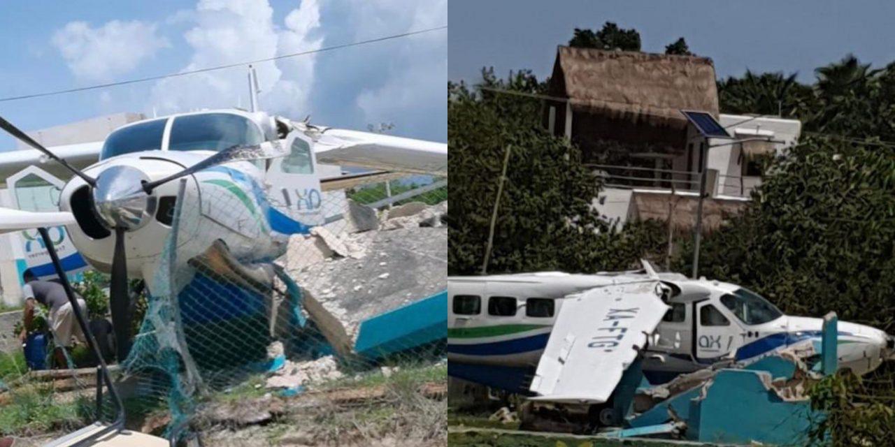 Se 'despista' avioneta Cessna en Holbox, Quintana Roo, sin lesionados
