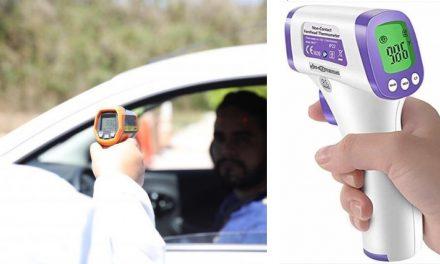 Rechaza detector de temperatura corporal en tienda y se arma bulla