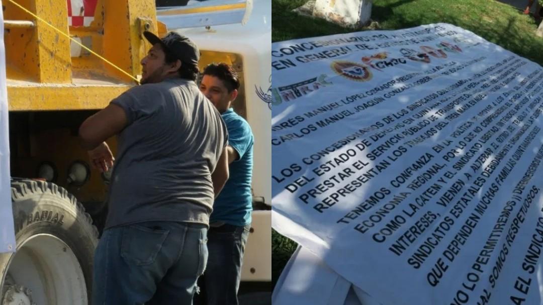 Los dejan fuera de construcción del Tren Maya y protestan