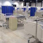 Hospital provisional en Siglo XXI, en espera de pacientes Covid-19