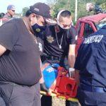 Siete albañiles lesionados en accidente de camioneta en Baca