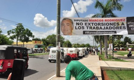 Mototaxistas acusan a diputado Rodríguez Ruz de extorsión; dejarán la CTM