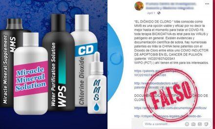 """Dióxido de cloro y productos """"milagro"""", desaprobados contra Covid-19"""