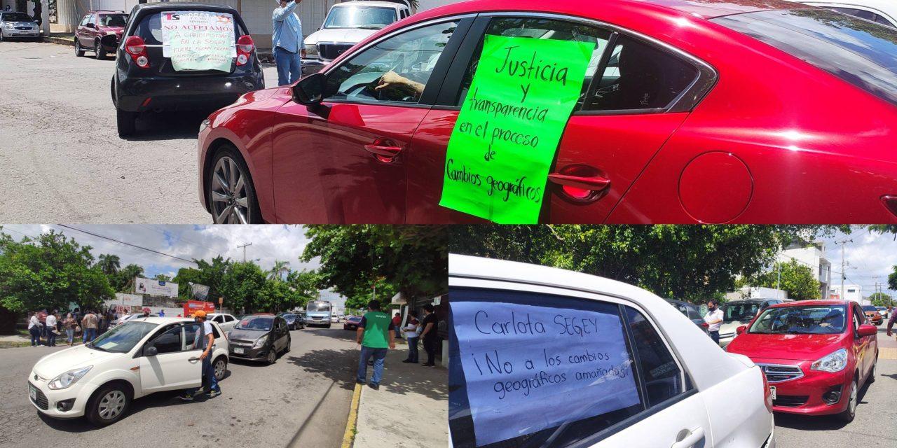 """Se quedan fuera de """"cambios geográficos"""" y protestan contra Segey"""