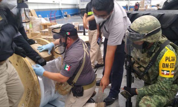 Escondían media tonelada de marihuana en carretes de mangueras