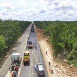 Ampliación y modernización de tramo carretero Mérida-Chetumal, al 30%