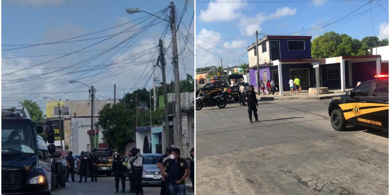 Dispara policía a camioneta y ésta choca colectivo de pasajeros en Mérida